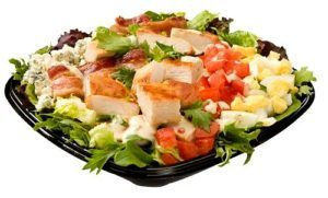 The BLT chicken Wendy's salad