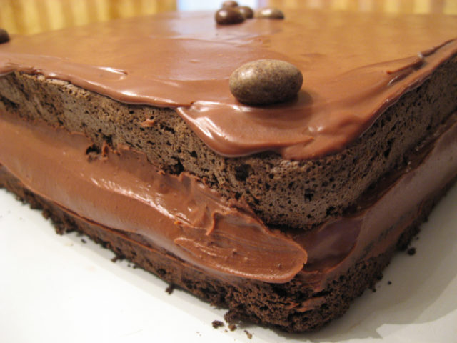 ... layer cake: Mocha Layer Cake with Chocolate-Rum Cream Filling