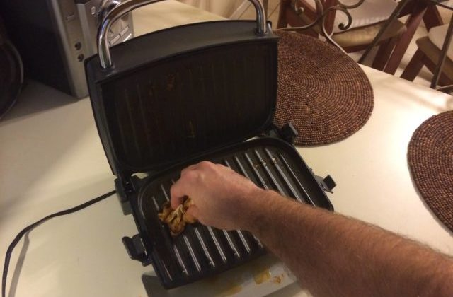 Clean Foreman Grill Soap Water