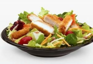 The crispy chicken bacon ranch Mcdonald's salad.