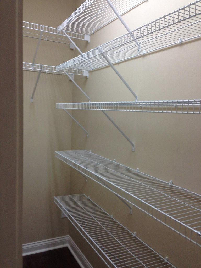 There's nothing like a fresh, clean (empty!) kitchen pantry - just waiting to be filled and organized!