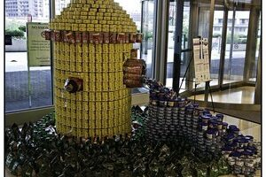Got Lots Of Canned Goods? Make Gravity-Defying Artistic Canned Food Sculptures!