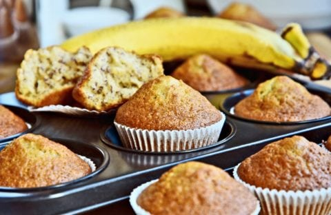 See my recipe for homemade banana bread muffins.