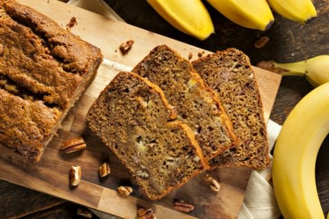 Here's my homemade banana bread recipe - the pecans are optional.