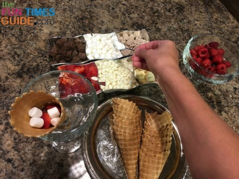 Campfire Cones are a fun way to make a custom dessert bar for a party!