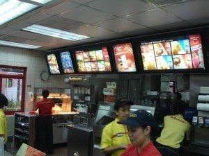 Food at McDonalds in the Phiippines is not the same as food at McDonalds in America. photo by glenmcbethlaw on Flickr