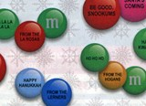 Personalized candy for Christmas.