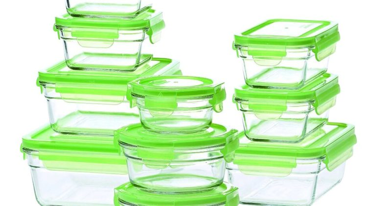 Snapware Glasslock by Pyrex is the BEST set of glass food storage containers I've found. It's affordable too!