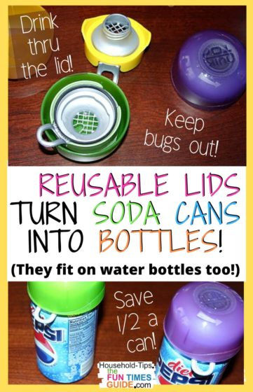 These reusable lids turn soda cans into soda bottles!