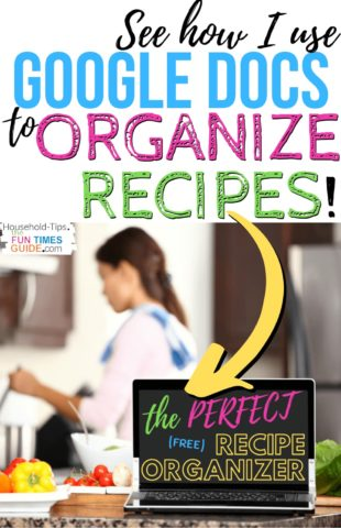 See how I use Google Docs to organize recipes!
