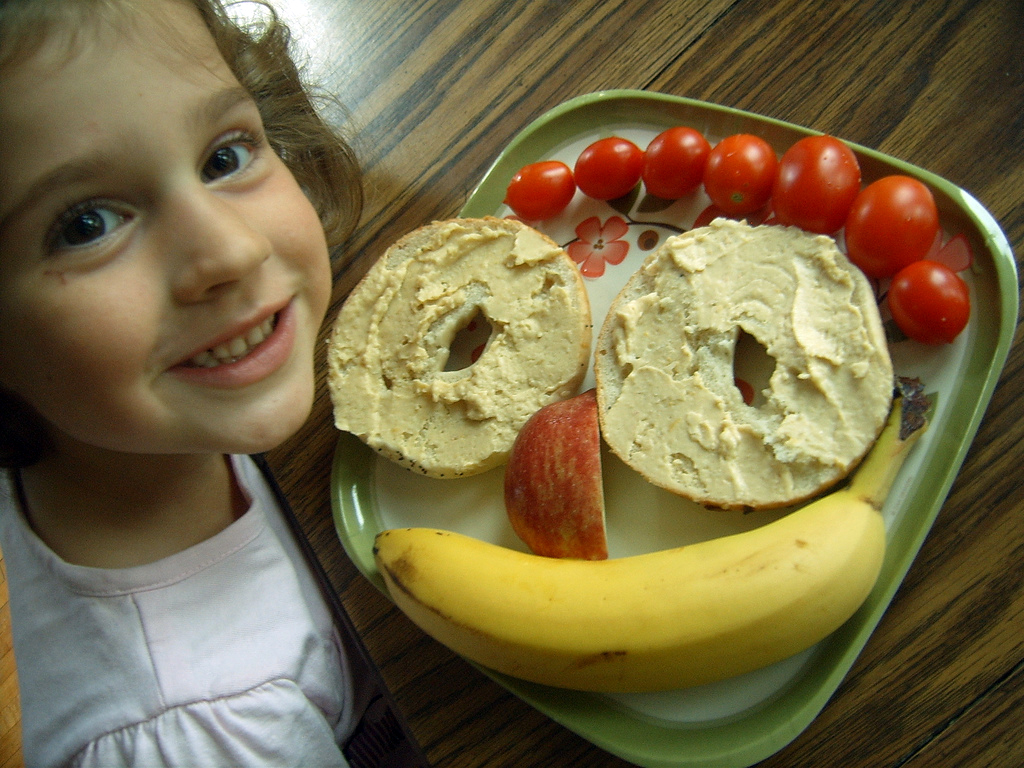 Making a happy face with healthy foods. These foods are also good for ...
