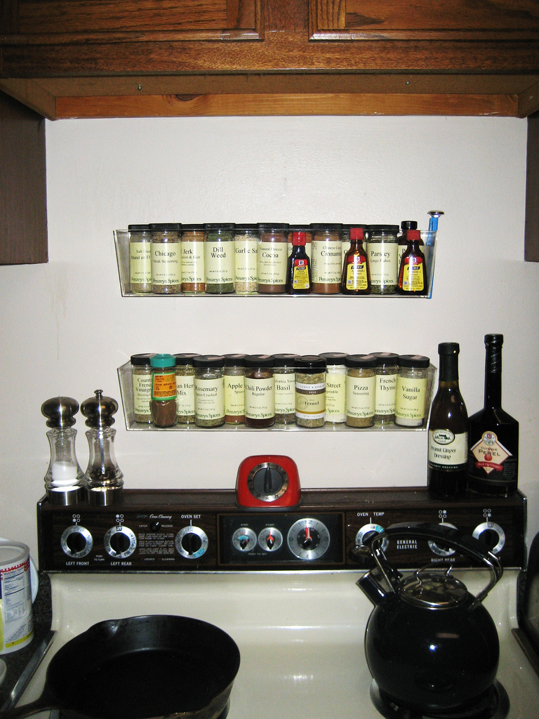 unique spice racks lots of clever ways to store spices. Black Bedroom Furniture Sets. Home Design Ideas