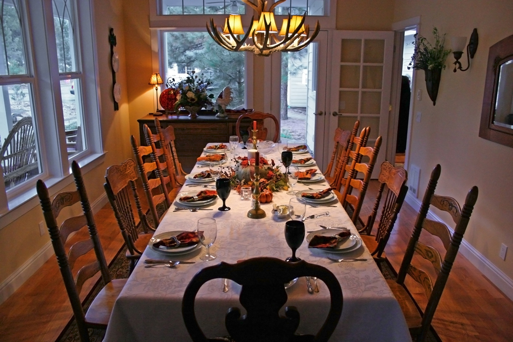 Thanksgiving Day Dinner Table By Monmart